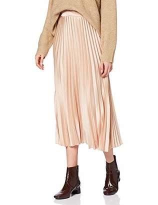 New Look Women's Satin Pleated MIDI Skirt,(Size:)