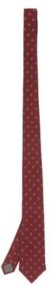 Brunello Cucinelli Tile-embroidered Silk-twill Tie - Burgundy
