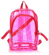 Alading(TM) Jelly Transparent Shoulder Bag Crystal Beach Travel Plastic Backpack School bags for Students