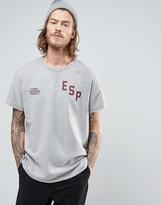 Element Calvin Short Sleeve Sweat ESP Logo in Gray Marl