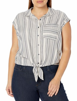Jessica Simpson Women's Robyn Tie Front Button Down Shirt