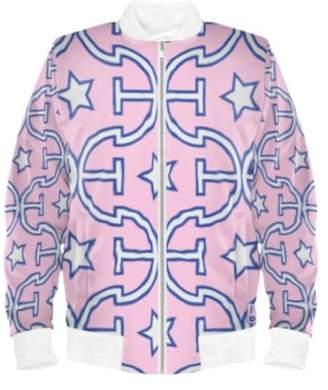 J V D B Larvotto Euphoria-On-Pink 'all-weather' Bomber Jacket