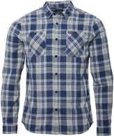 Firetrap Mens Fetlar Long Sleeve Check Shirt Carbon/Grey