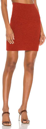 Marissa Webb Jesse Ribbed Trim Mini Skirt