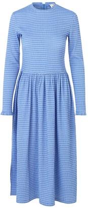 Mads Norgaard Blue White Strip Flexi Pop Docca Dress - 34