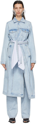 Y/Project Blue Denim Pulled Lining Coat