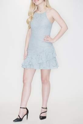 She + Sky Flounce Hem Dress