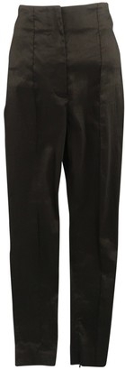 Haider Ackermann Black Linen Trousers