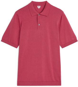 Arket Cotton Silk Polo Shirt