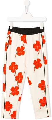 Mini Rodini Four-Leaf Clove Print Track Pants