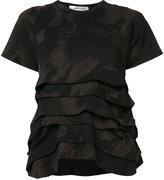 Comme des Garcons print ruffle T-shirt - women - Cotton - M