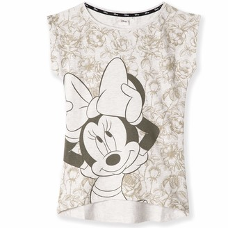 Disney Minnie & Mickey Mouse Characters Original Cotton T-Shirt for Womens Teenagers - M