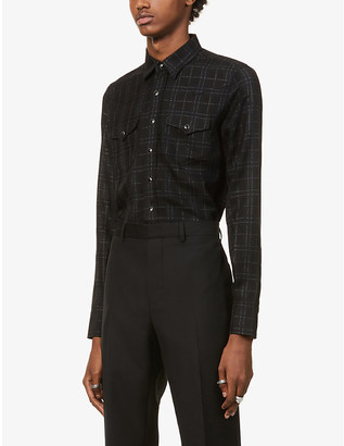 Saint Laurent Western checked woven shirt
