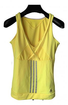 adidas Yellow Synthetic Tops
