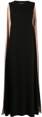 Valentino Pre-Owned Sleeveless Cape Silk Gown
