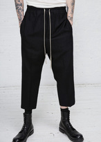 Rick Owens black drawstring cropped astaires trouser