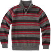 Calvin Klein Halt-Stripe Quarter-Zip Cotton Sweater, Big Boys (8-20)
