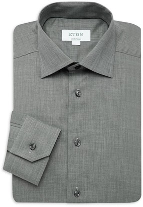Eton Contemporary-Fit Flannel Dress Shirt