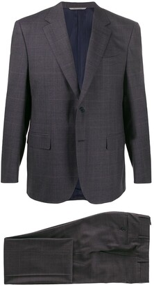 Canali Single-Breasted Checked Suit