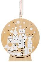 Nordstrom Snowglobe Village Wooden Ornament