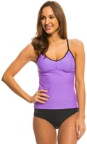 Speedo Women's Solid Strappy Tankini Top 8135923