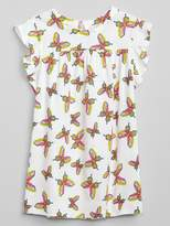 Gap Print Flutter Dress