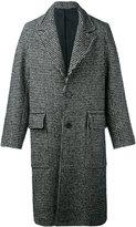 Ami Alexandre Mattiussi houndstooth pattern coat - men - Cotton/Acrylic/Polyamide/other fibers - 48