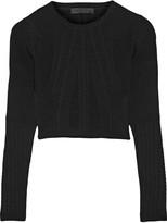 Cushnie et Ochs Cropped stretch-knit top