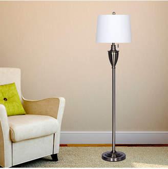 """Fangio Lighting 1589BS 61"""" Classic Urn Brushed Steel Metal Floor Lamp"""
