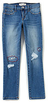 Jessica Simpson Big Girls 7-16 Kiss Me Embroidered Skinny Jeans