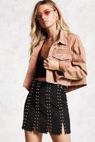 Forever 21 Studded Faux Suede Skirt