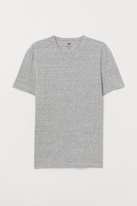 H&M Slim Fit T-shirt - Gray