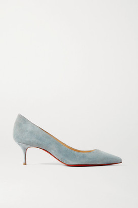 Christian Louboutin Kate 55 Suede Pumps - Light blue