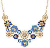 C. Wonder Crystal & Enamel Floral StatementNecklace