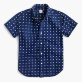 J.Crew Kids' short-sleeve linen-cotton shirt in star print