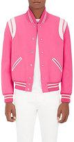 Saint Laurent Men's Wool & Leather Varsity Jacket