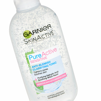 Garnier Pure Active Anti Blemish Clarifying Tonic Sensitive Skin 200ml