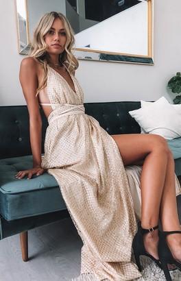 Bb Exclusive Jasmine Glitter Formal Dress Gold Sparkle