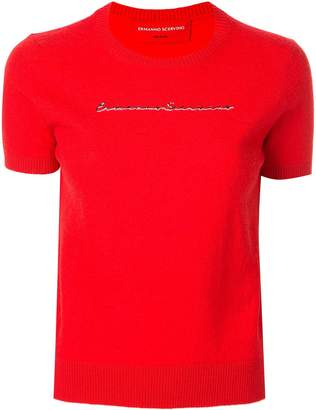 Ermanno Scervino logo print jumper