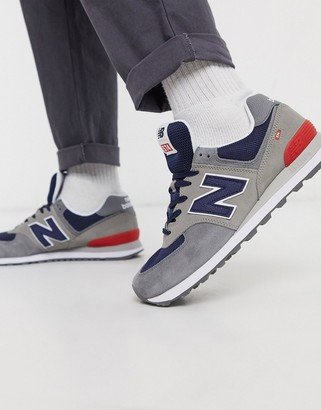 New Balance 574 trainers in grey