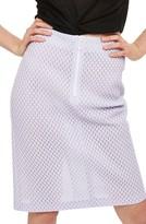 Topshop Women's Airtex Mesh Pencil Skirt
