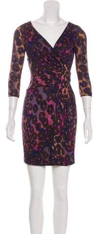 Diane von Furstenberg Printed Silk Mini Dress