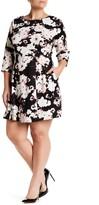 Vince Camuto Scuba A-Line Dress (Plus Size)