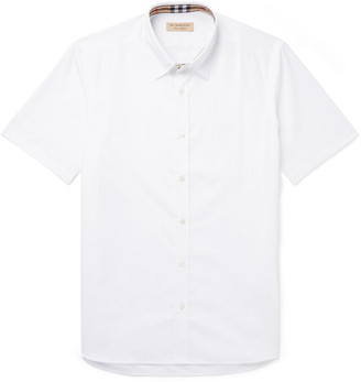 Burberry Cotton-Blend Poplin Shirt