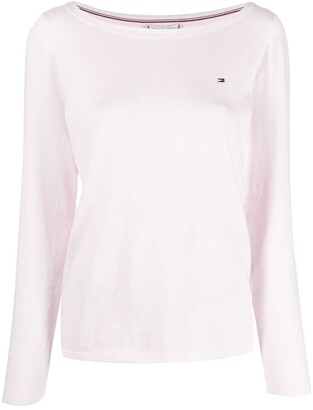 Embroidered-Logo Longsleeved Top