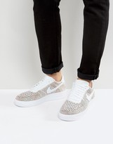 Nike Air Force 1 Flyknit Trainers In White 817419-701