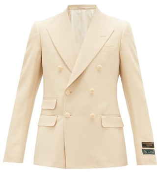 Gucci Double-breasted Peak-lapel Jacket - Cream