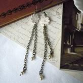 LaBelle et la Bete Lace Daisy Chain Earrings