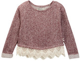 Lucky Brand Lurex Terry Popover with Lace Pullover (Little Girls)