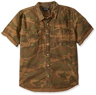 Blank NYC [BLANKNYC] Men's Camo Button Down Shirt Shirt